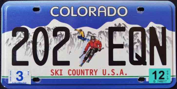 NGFD License Plate 6X12 Inches Colorado Ski Country USA License Plate # 161 Xgl