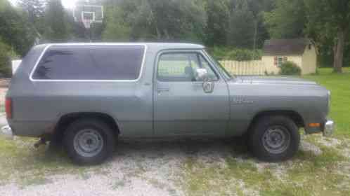dodge ramcharger 1993 hello i am selling a 2wd sport the has a 8 dodge ramcharger 1993 hello i am