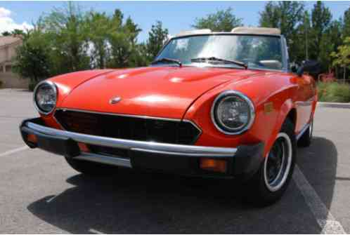 Fiat 124 Spider 2000 1979, convertible for sale, 2, 0L, 5 sd, CD