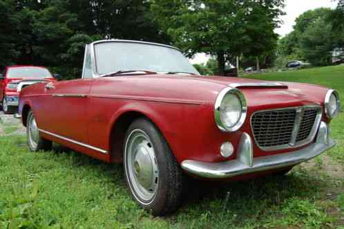Fiat Other Osca 1500 S 1961 Convertible Burgundy With A Tan Interior