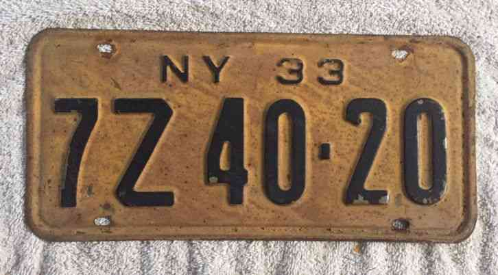 Authentic Antique And Classic New York Us License Plates