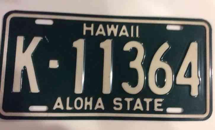 Arizona State License Plate >> Hawaii License Plate Kauai County Aloha State, Excellent