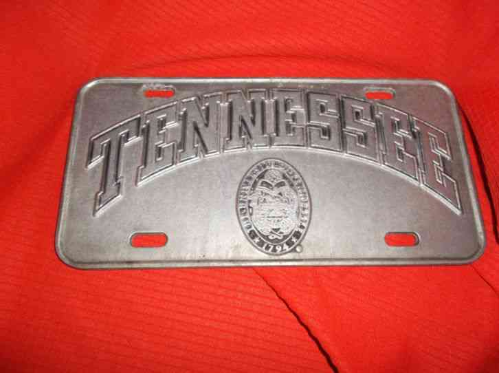 Heavy Pewter License Plate with The University of Tennessee Made in USA  York PA