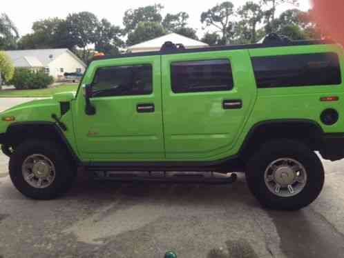 Hummer H2 2003 Up For Auction Is A Custom Lime Green With