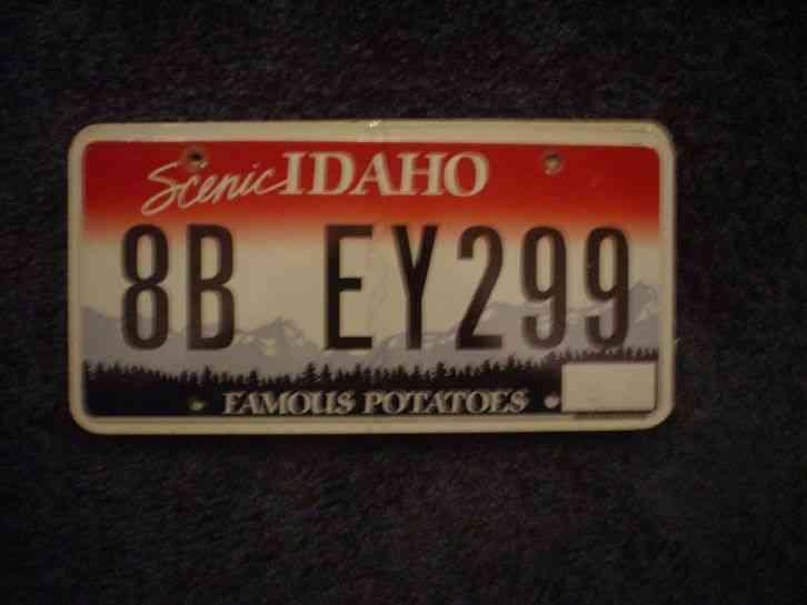 1979 idaho famous potatoes bicycle bike license plate. Black Bedroom Furniture Sets. Home Design Ideas