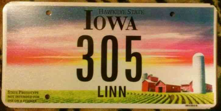 Indiana Used Car Licenseplate