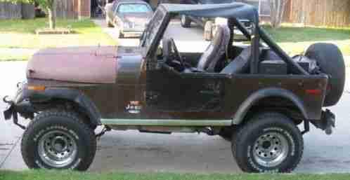Jeep CJ CJ7 Levi Ed, 1977, 7 Ed Renegade 360 cid 3 speed 4x4 does not