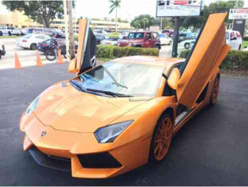 Lamborghini Aventador 2014 Rare Nice Spectacular Orange Color
