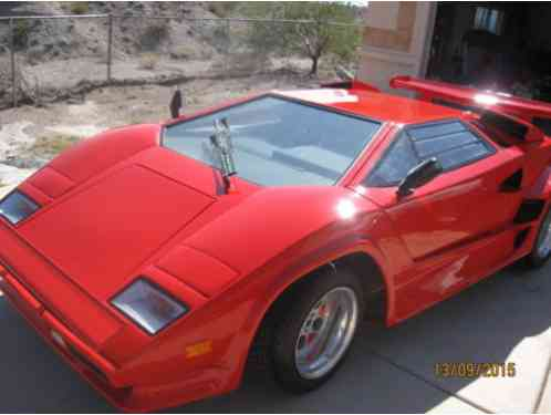Lamborghini Countach 1987 5000s Kit Carthe Chassis Is From A Pontiac