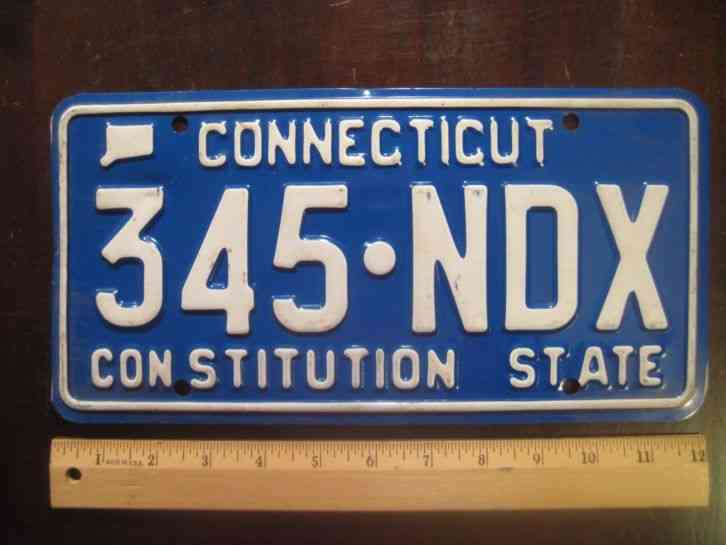 license plate connecticut motto constitution state 345. Black Bedroom Furniture Sets. Home Design Ideas