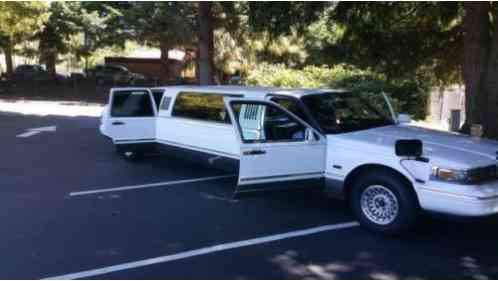 Lincoln Town Car Limo 1997 97 Usine Stretch With Rolls Royce Chrysler