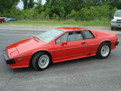 Lotus Esprit Turbo Hci 1986 This Is A Coupe If You Are
