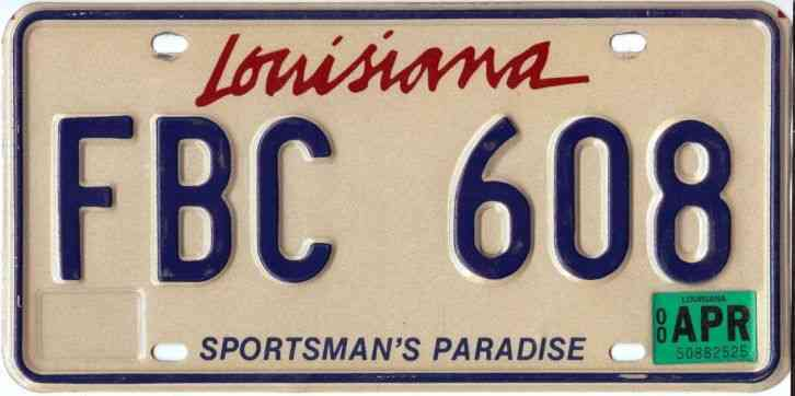 how to get a louisiana license plate