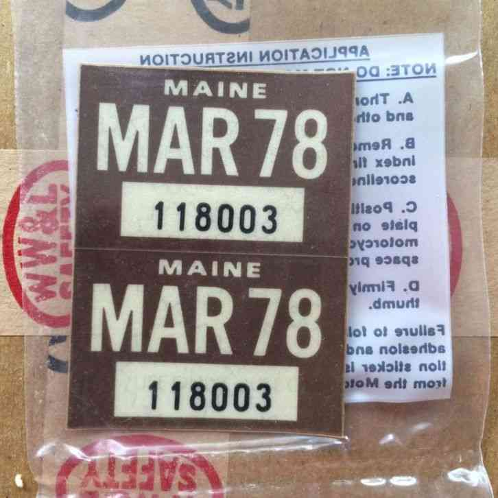 LOT OF 3 MAINE TRAILER LICENSE PLATES