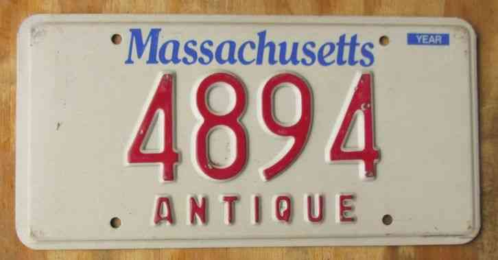 Ma Car Registration: MASSACHUSETTS SPIRIT OF AMERICA License Plate 2010 2AN 863