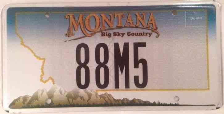 2005 Montana License Plate Tag Number 3b519 22 Classic Mt