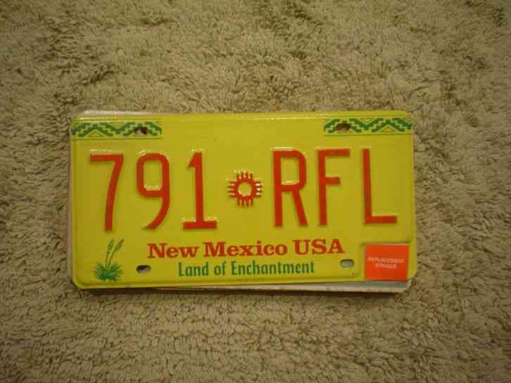 1949 new mexico license plate plates pair 14 761 nm 49. Black Bedroom Furniture Sets. Home Design Ideas