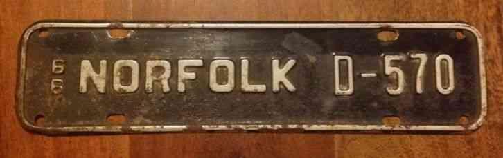 Virginia Car Tax >> Norfolk Virginia City License Plate Tag 1966 Vintage Car
