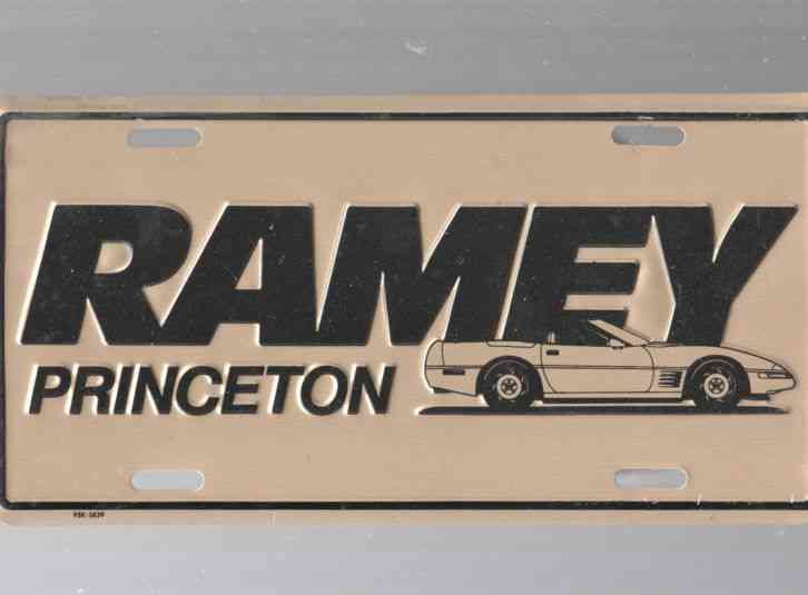 Ramey auto dealership license plate car tag princeton for Ramey motors princeton wv