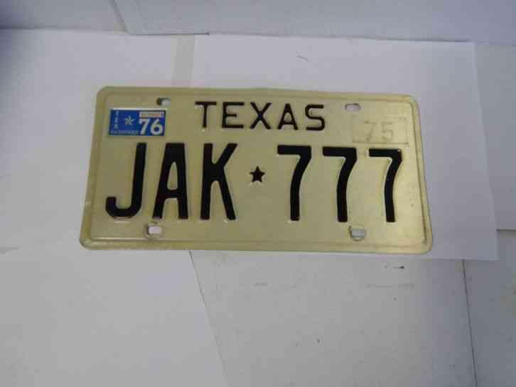 texas 1975 license plate vintage lone star man cave jak. Black Bedroom Furniture Sets. Home Design Ideas