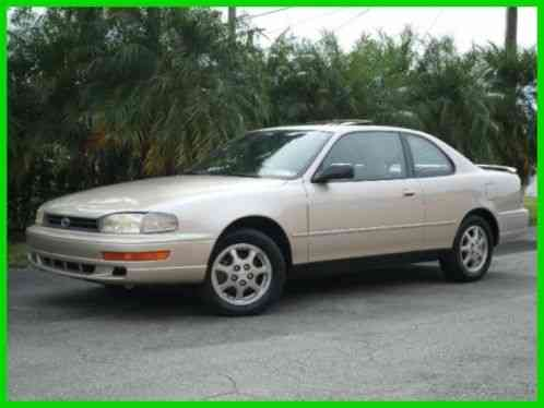 1994 Toyota Camry Se V6 Rare Coupe Automatic Gold Tan Leather Seats
