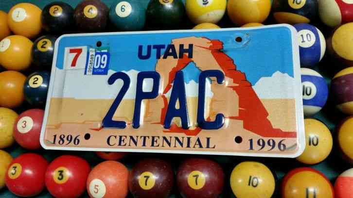 Image result for tupac license plate images