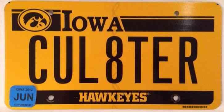 University Iowa Hawkeyes Vanity See You Later License