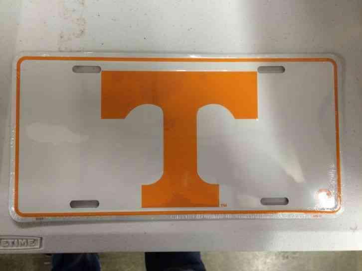 University of Tennessee Volunteers Metal Liscense Plate New White