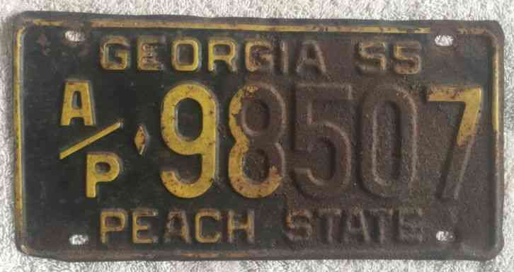 Cars For Sale In Maine >> VINTAGE 1955 GEORGIA LICENSE PLATE AUTO CAR TAG Free