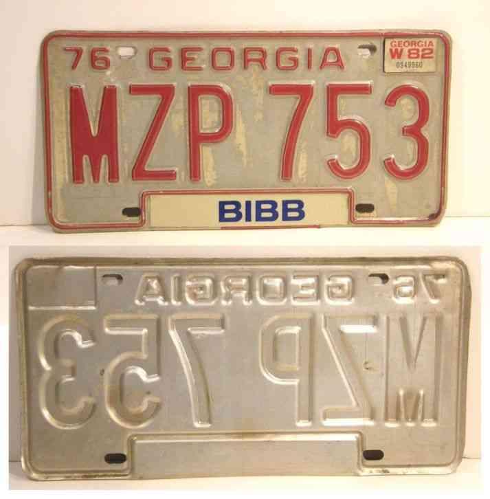 Vintage 1976 Georgia Car License Plate Car Tag Vanity