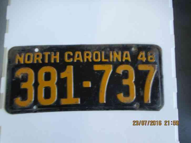 Cars For Sale In Arkansas >> VINTAGE ANTIQUE NORTH CAROLINA NC 1948 LICENSE PLATE/TAG