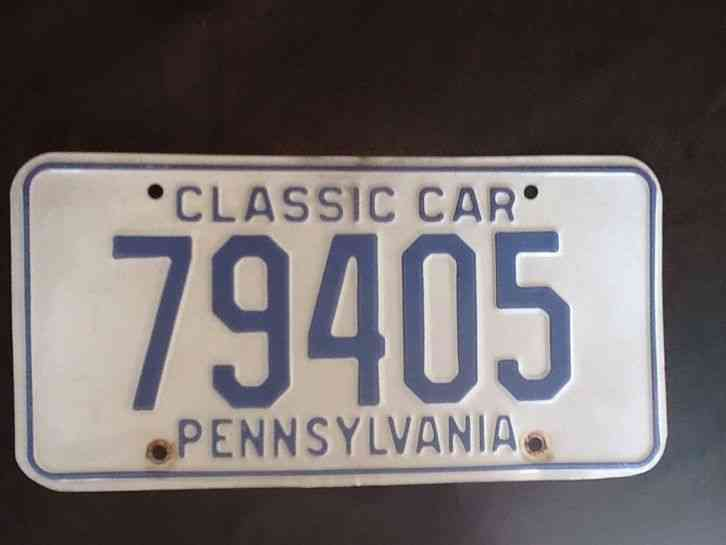 Vtg Pennsylvania Classic Car License Plate 79405 Ships Free