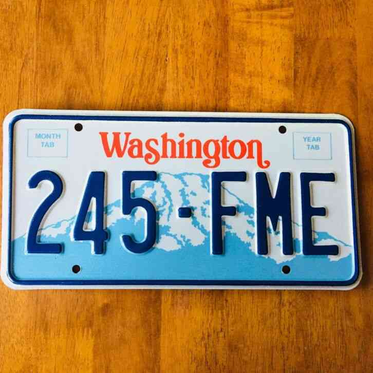 Authentic Antique and Classic Washington US License Plates