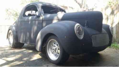 Willys Coupe 1941 Unfinished Project Or Rat Rod Car Run