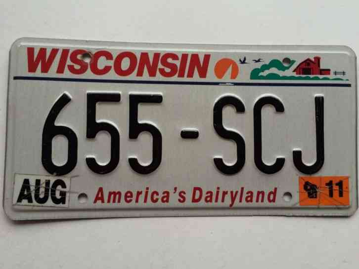 Wisconsin 2011 License Plate Garage Old Car Tag Americas