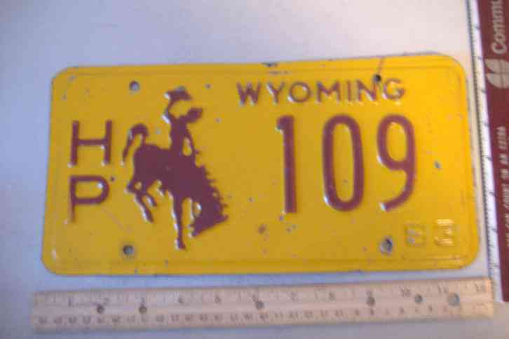 Cars For Sale In Arkansas >> WYOMING~LICENSE PLATE~109~1983
